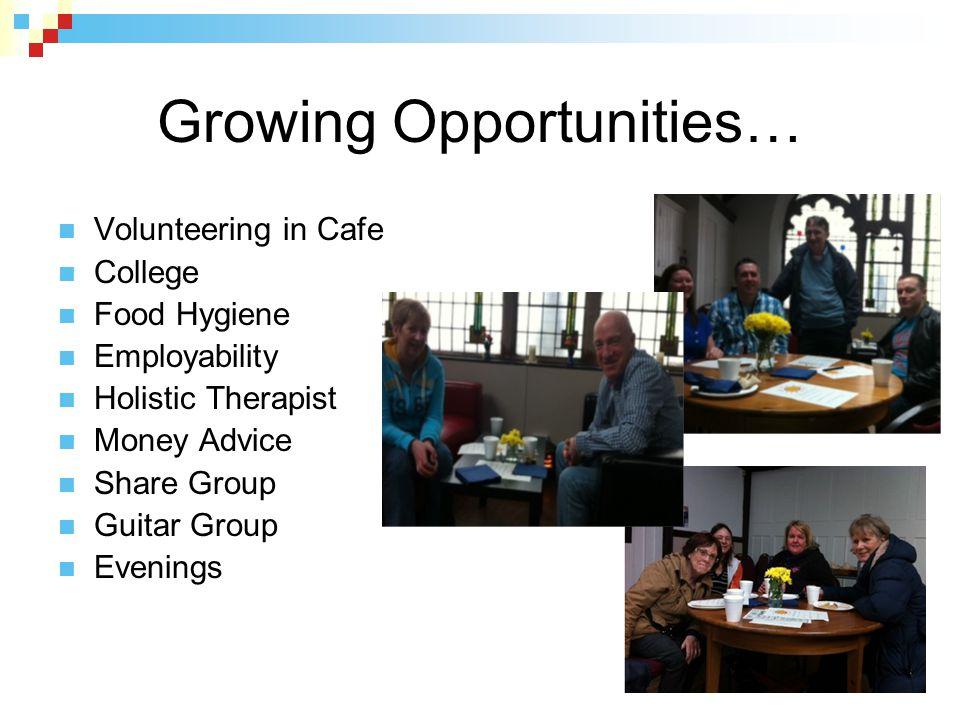 Growing Opportunities…