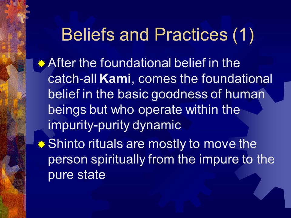 Beliefs and Practices (1)