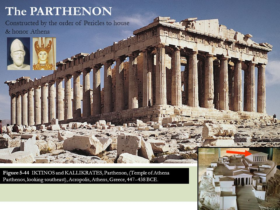 The PARTHENON Constructed by the order of Pericles to house & honor Athena