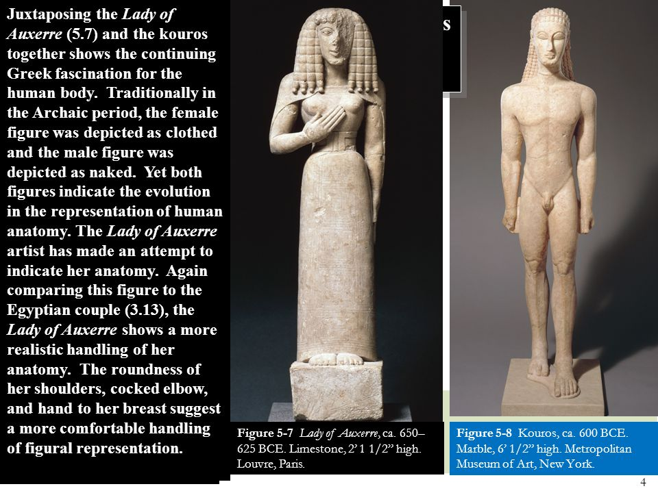 How have the Egyptians influenced Greek sculpture