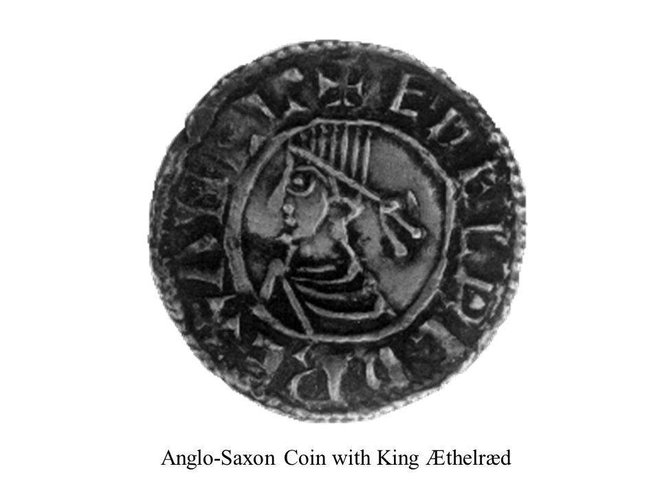 Anglo-Saxon Coin with King Æthelræd