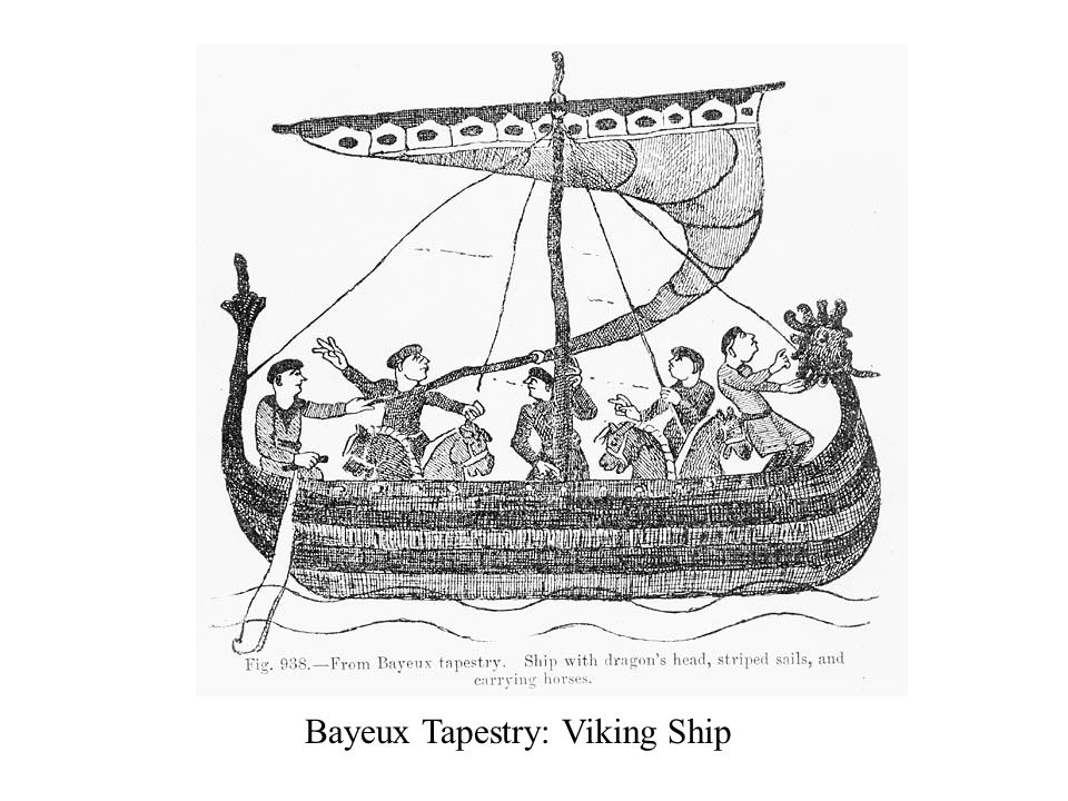 Bayeux Tapestry: Viking Ship