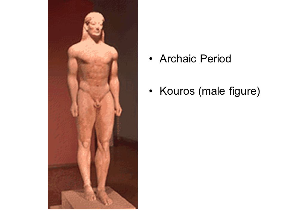 Archaic Period Kouros (male figure)