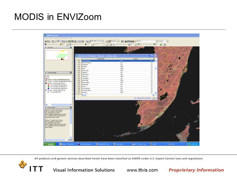 MODIS in ENVIZoom