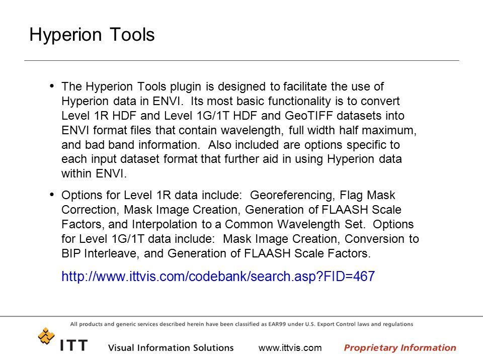 Hyperion Tools http://www.ittvis.com/codebank/search.asp FID=467