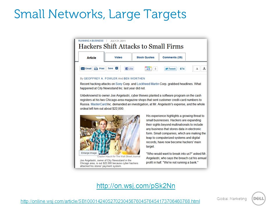 Small Networks, Large Targets