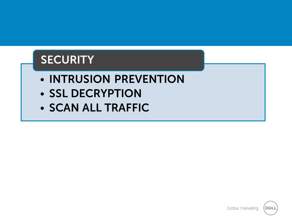 INTRUSION PREVENTION SSL DECRYPTION SCAN ALL TRAFFIC SECURITY