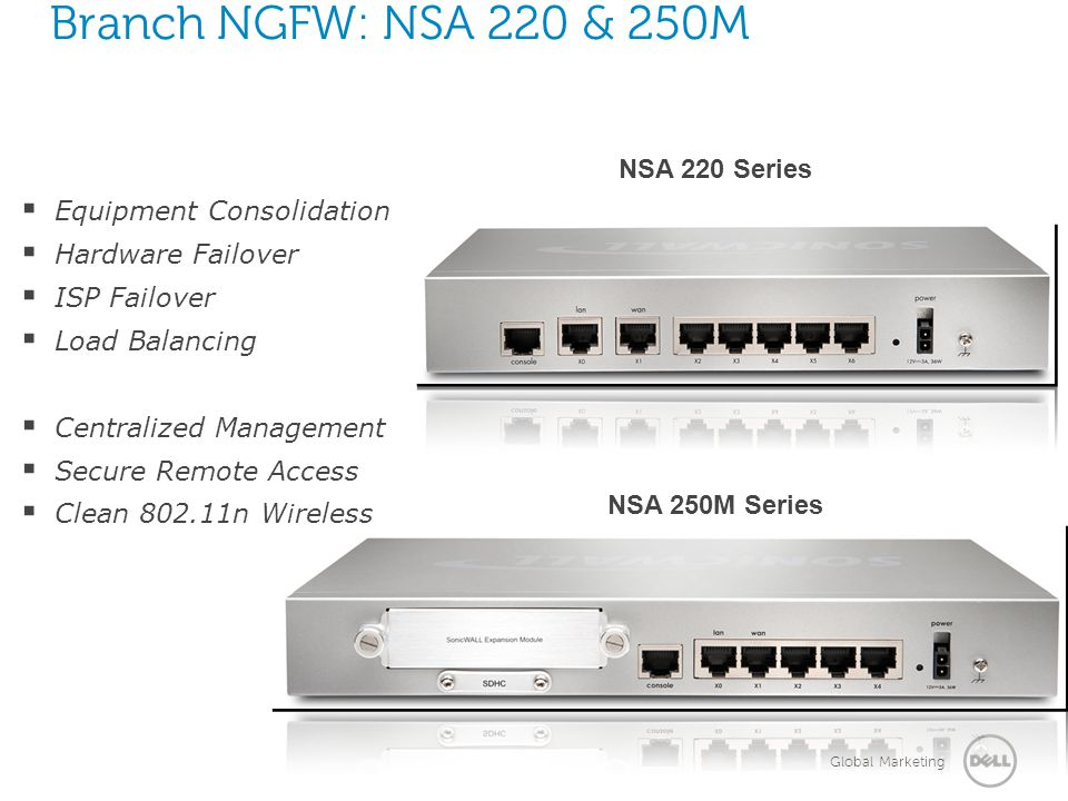 Branch NGFW: NSA 220 & 250M NSA 220 Series Equipment Consolidation