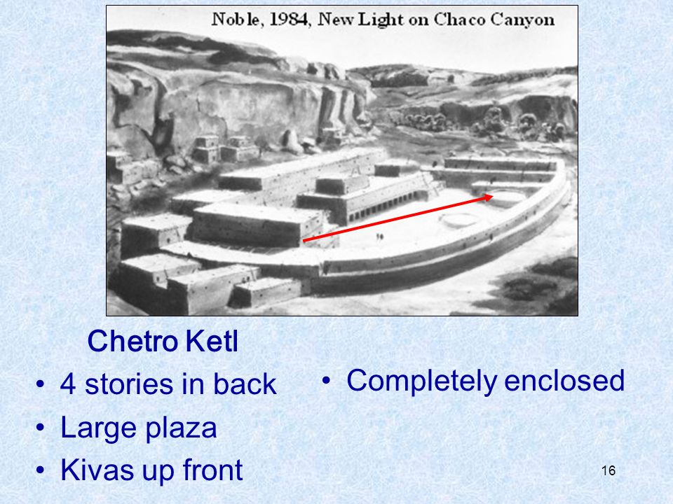 Chetro Ketl 4 stories in back Large plaza Kivas up front Completely enclosed