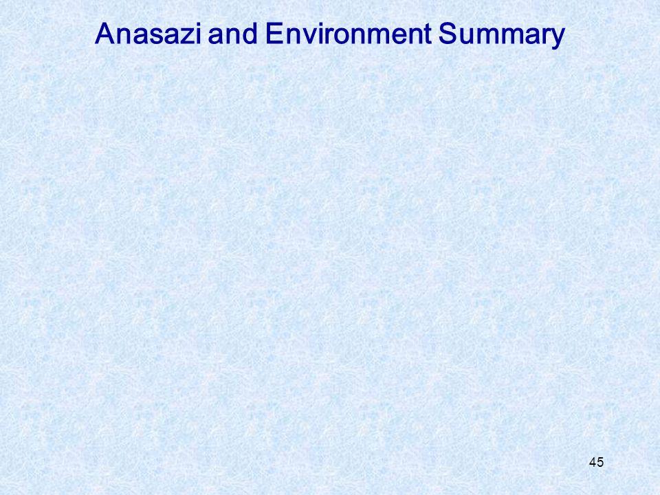Anasazi and Environment Summary