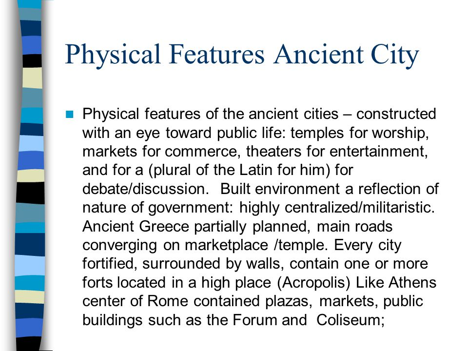 Physical Features Ancient City