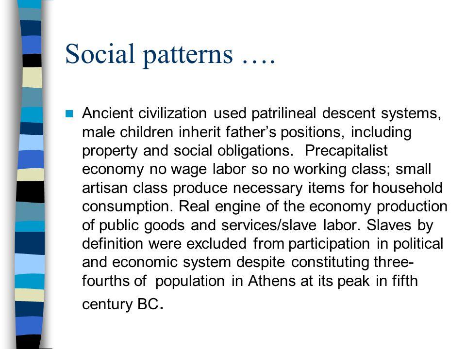Social patterns ….