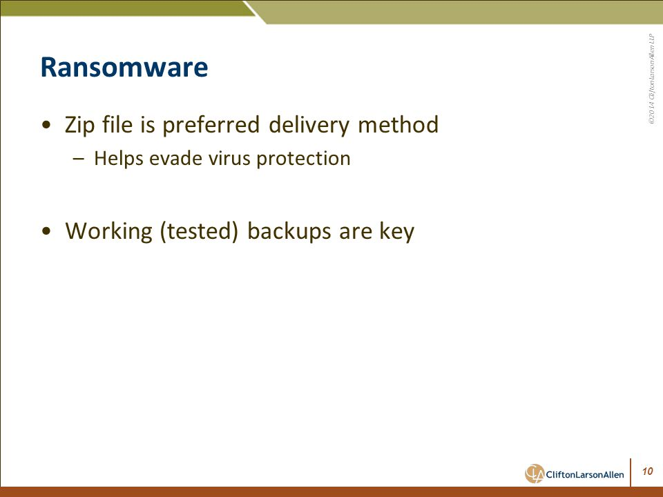 Ransomware Zip file is preferred delivery method