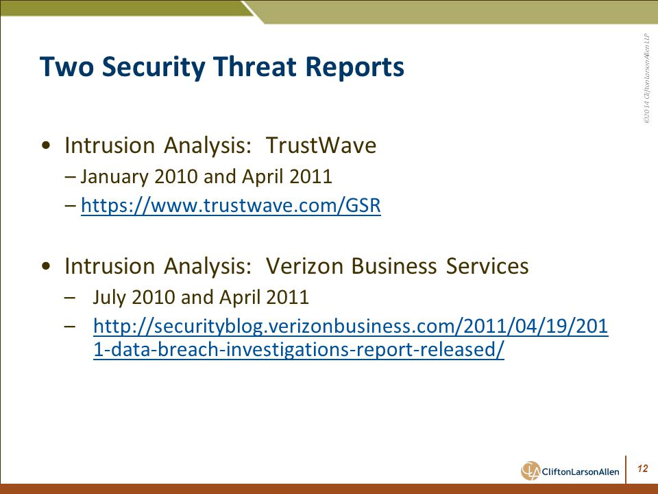 Two Security Threat Reports