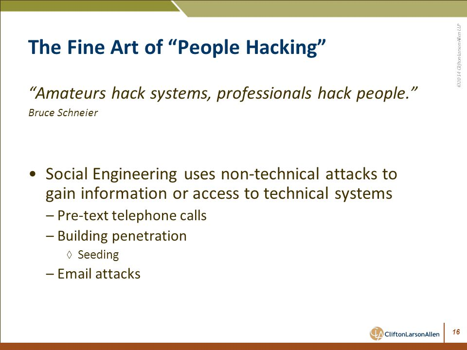 The Fine Art of People Hacking