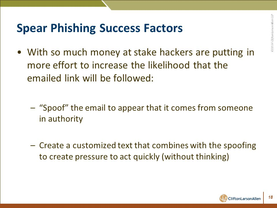 Spear Phishing Success Factors