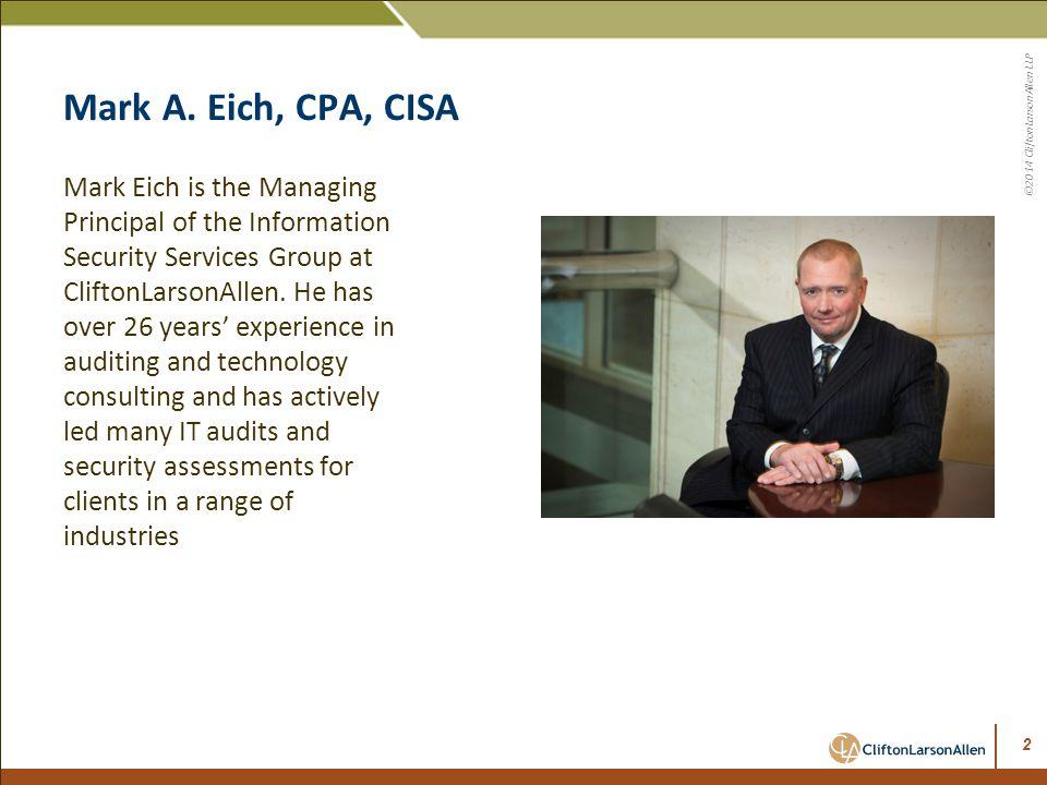Mark A. Eich, CPA, CISA