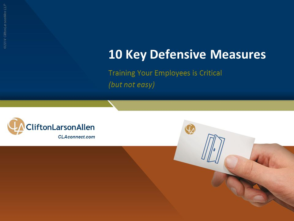 10 Key Defensive Measures