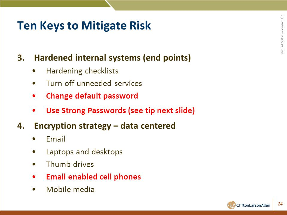 Ten Keys to Mitigate Risk