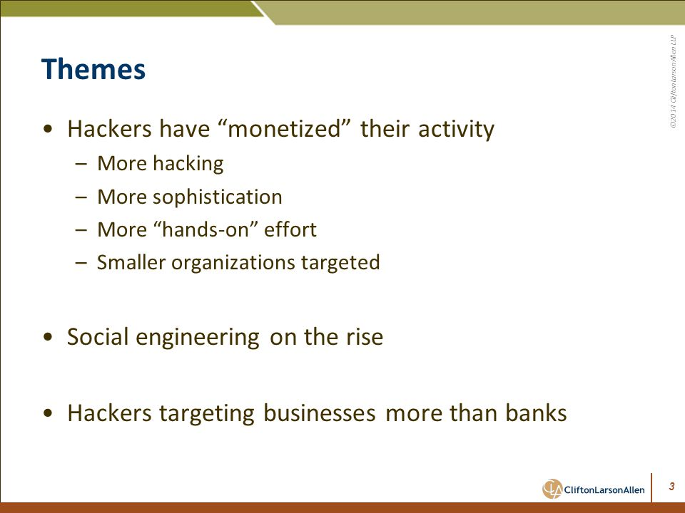 Themes Hackers have monetized their activity