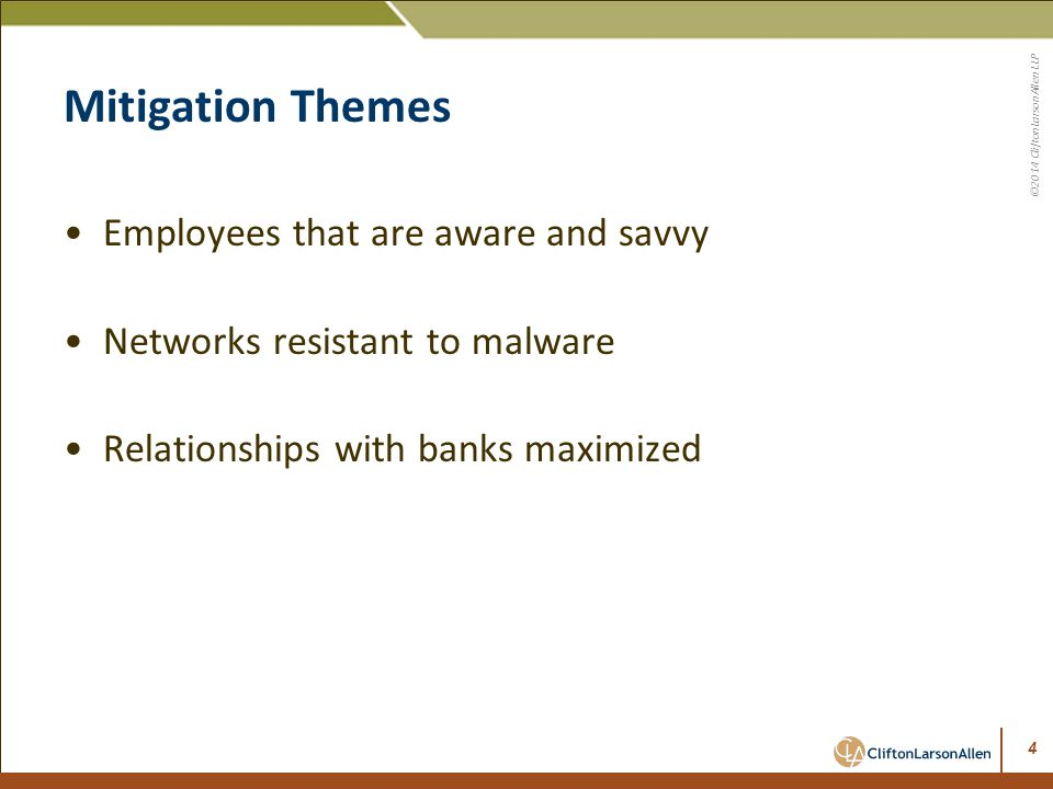 Mitigation Themes Employees that are aware and savvy