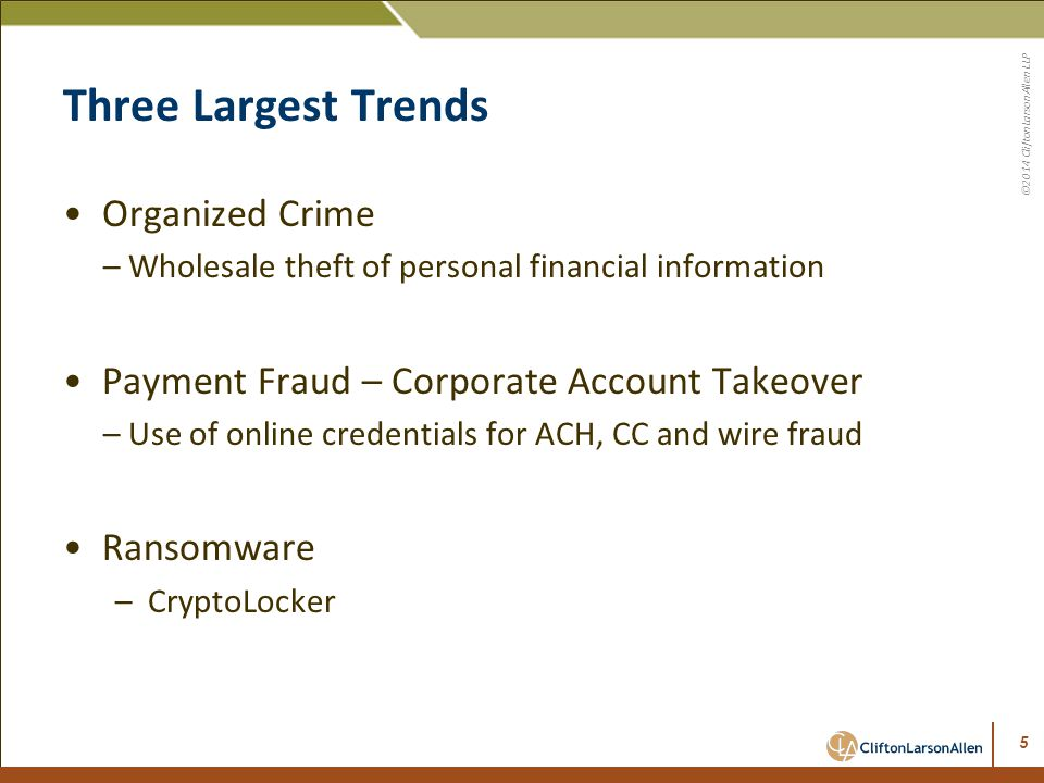 Three Largest Trends Organized Crime