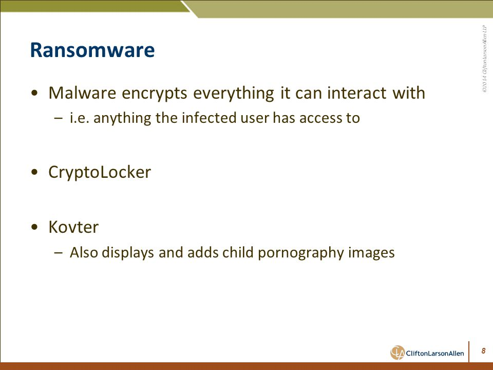Ransomware Malware encrypts everything it can interact with