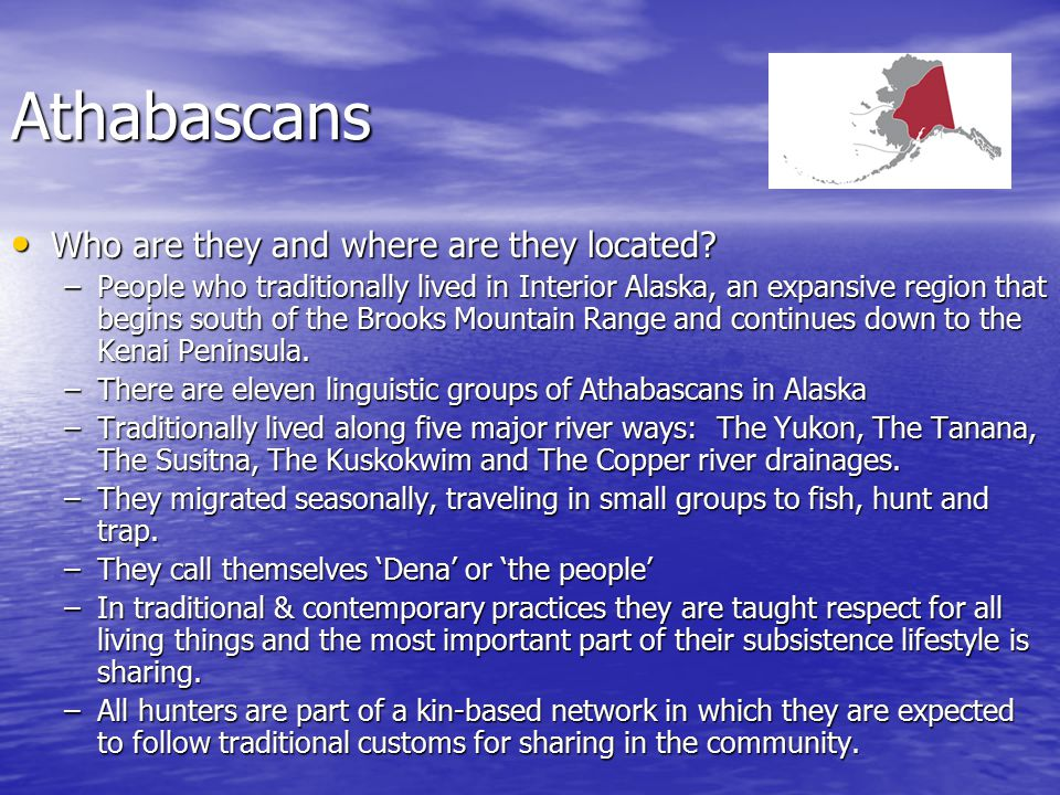 Athabascans Who are they and where are they located