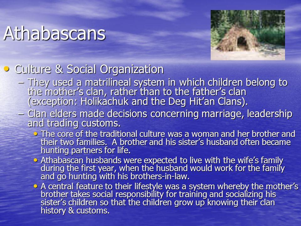 Athabascans Culture & Social Organization