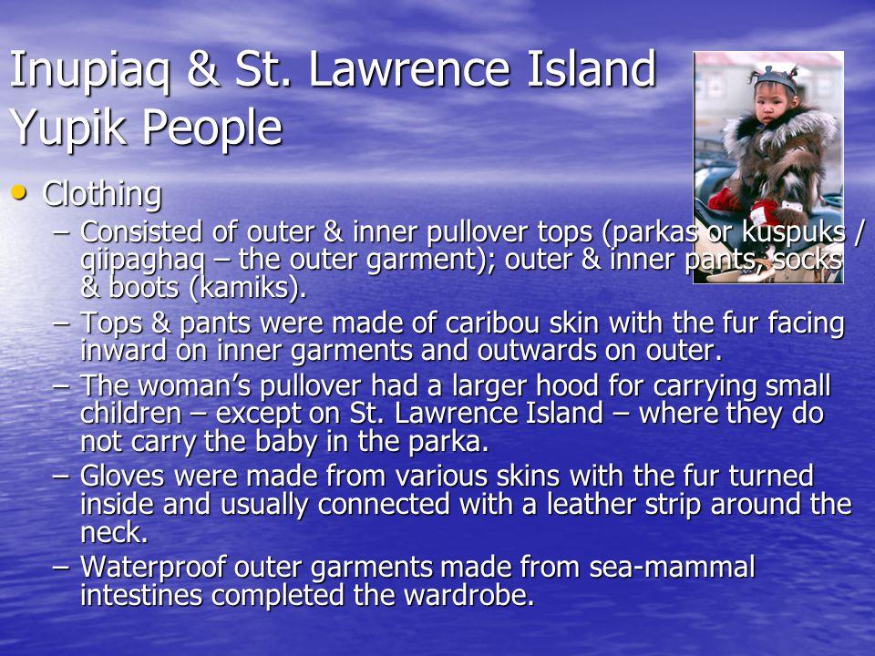 Inupiaq & St. Lawrence Island Yupik People