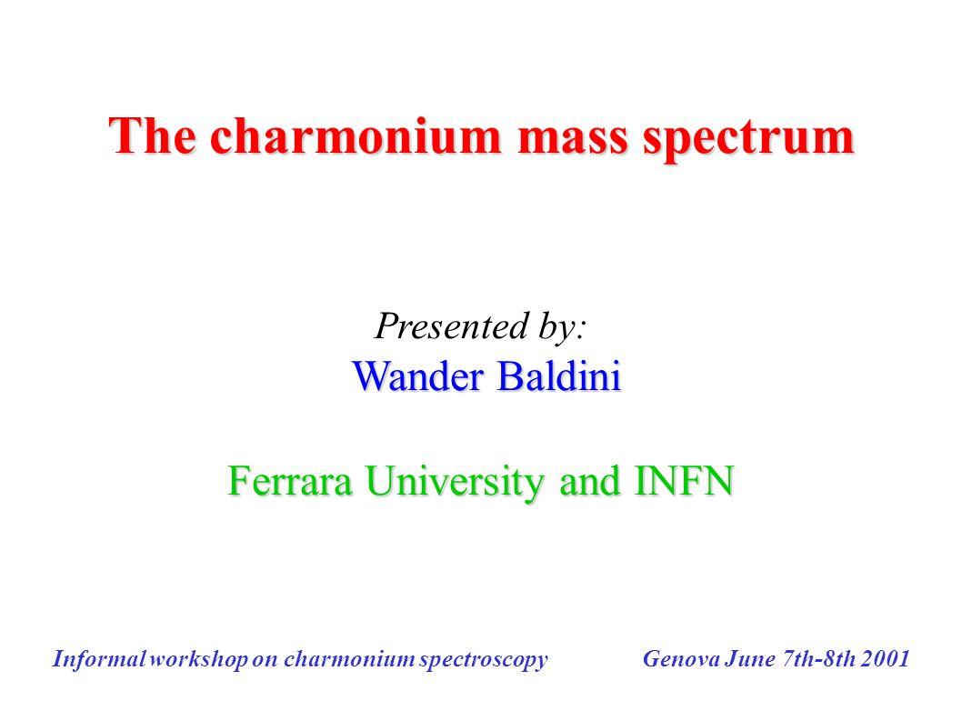 The charmonium mass spectrum