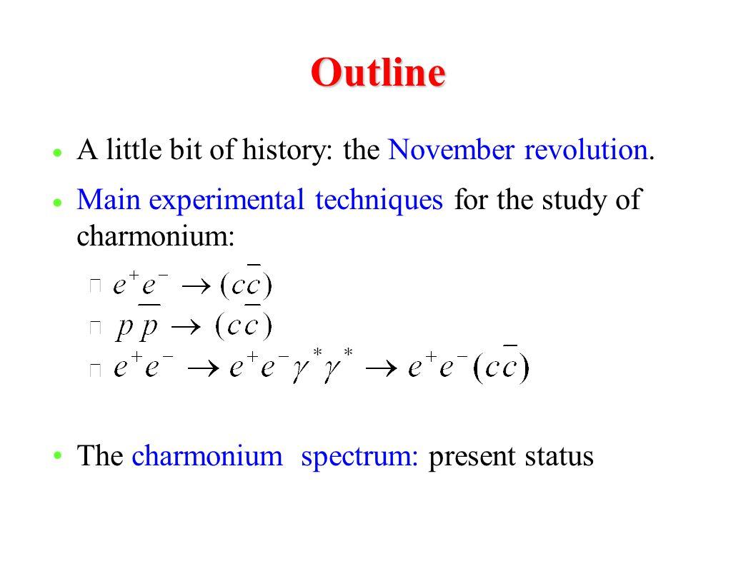 Outline A little bit of history: the November revolution.