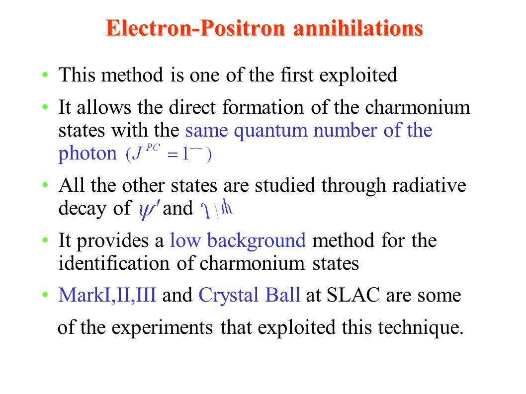 Electron-Positron annihilations