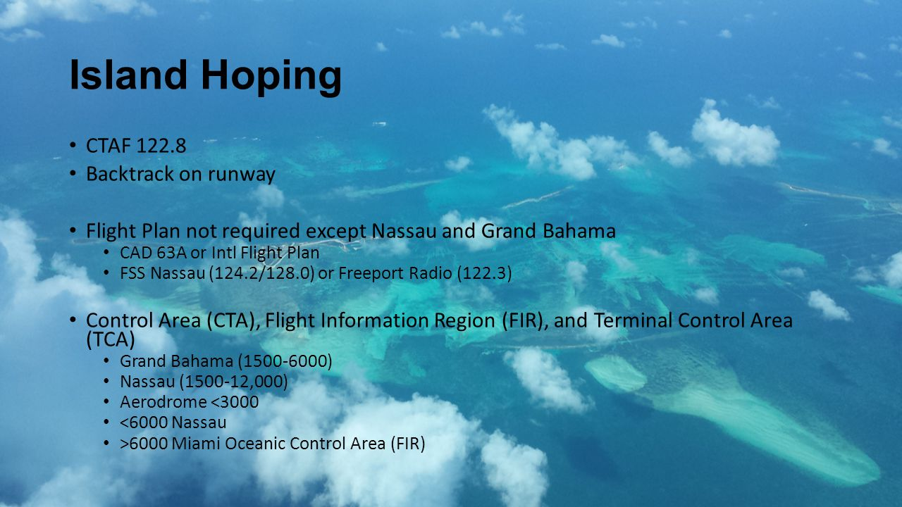 Island Hoping CTAF 122.8 Backtrack on runway