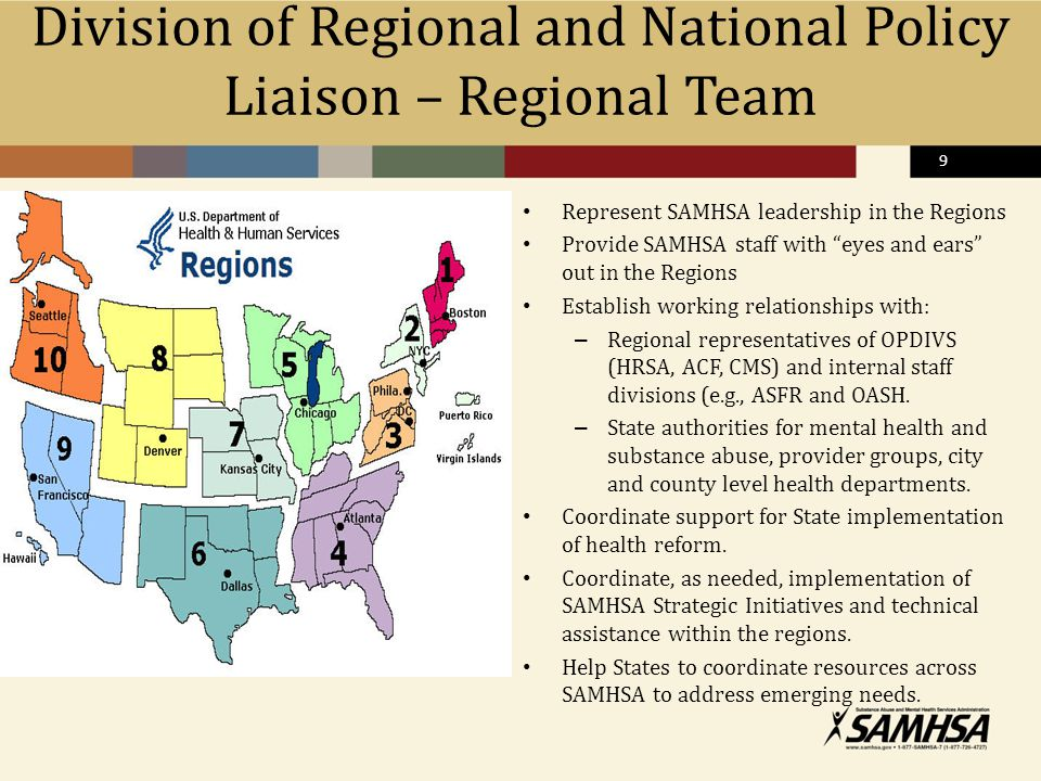 Division of Regional and National Policy Liaison – Regional Team