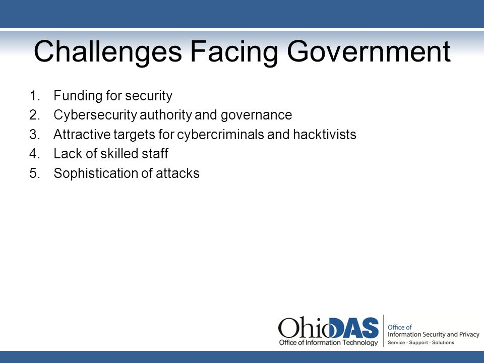 Challenges Facing Government