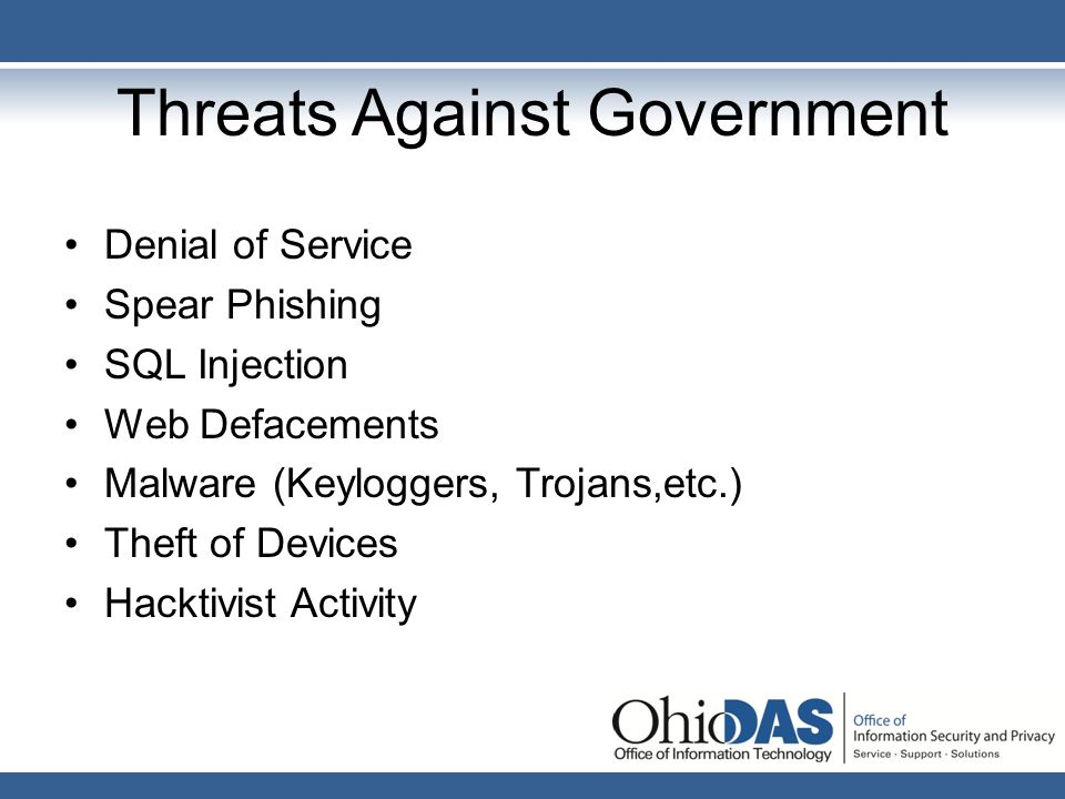 Threats Against Government