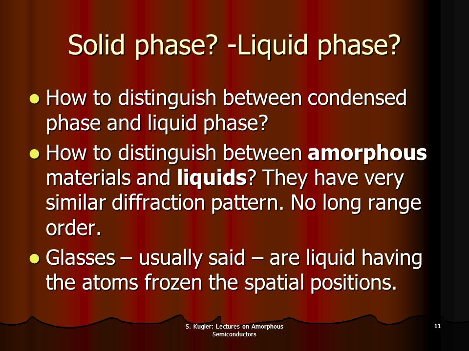 Solid phase -Liquid phase