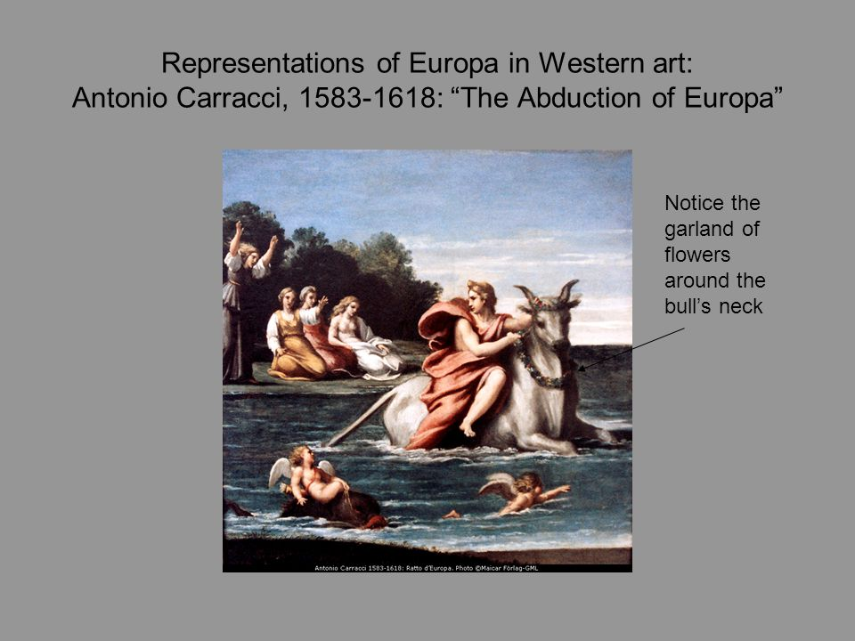 Representations of Europa in Western art: Antonio Carracci, 1583-1618: The Abduction of Europa