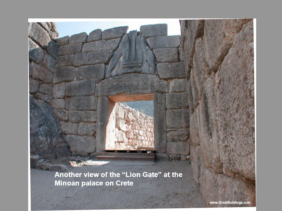 Another view of the Lion Gate at the Minoan palace on Crete