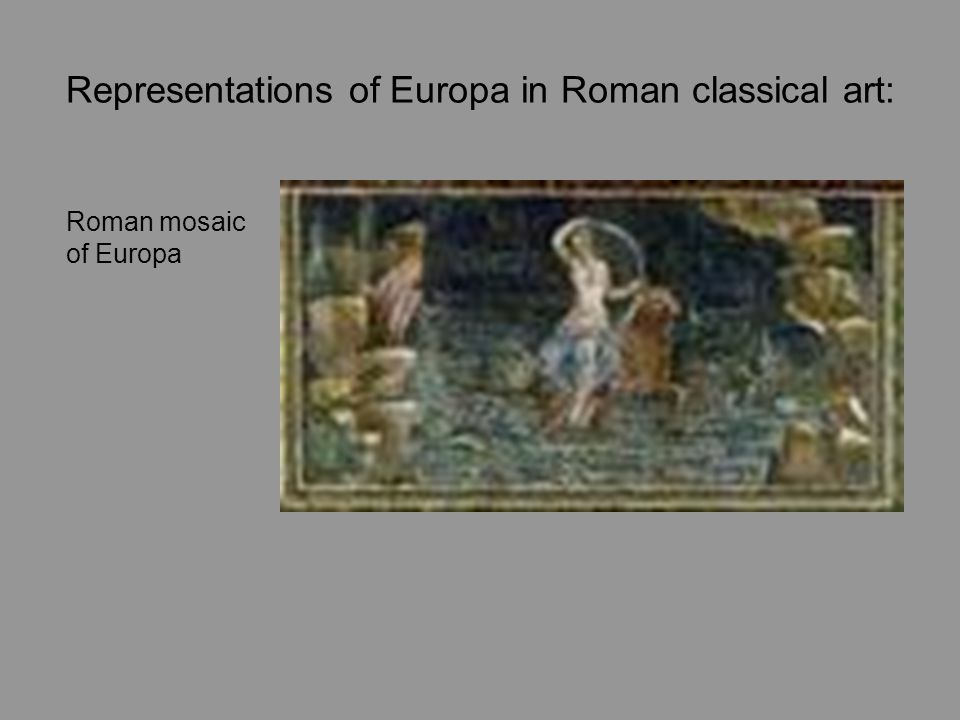Representations of Europa in Roman classical art:
