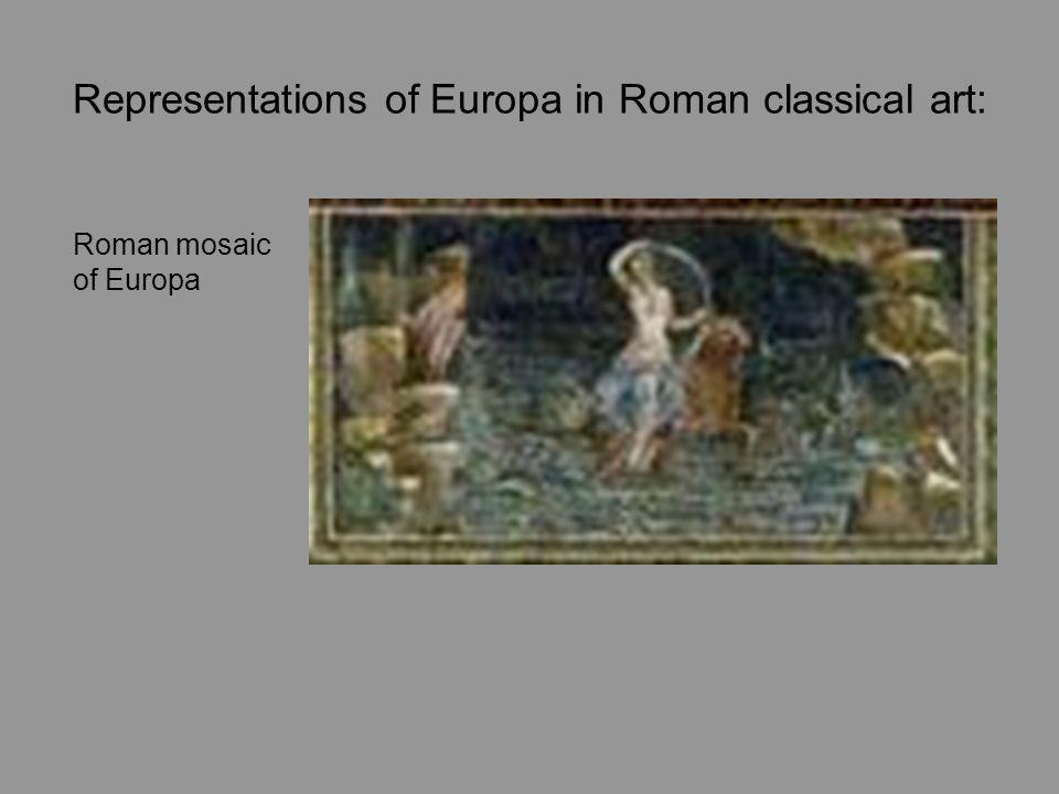 Representations of Europa in Roman classical art: