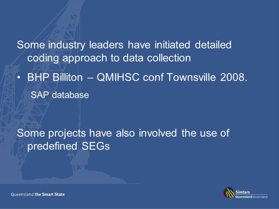 BHP Billiton – QMIHSC conf Townsville 2008.