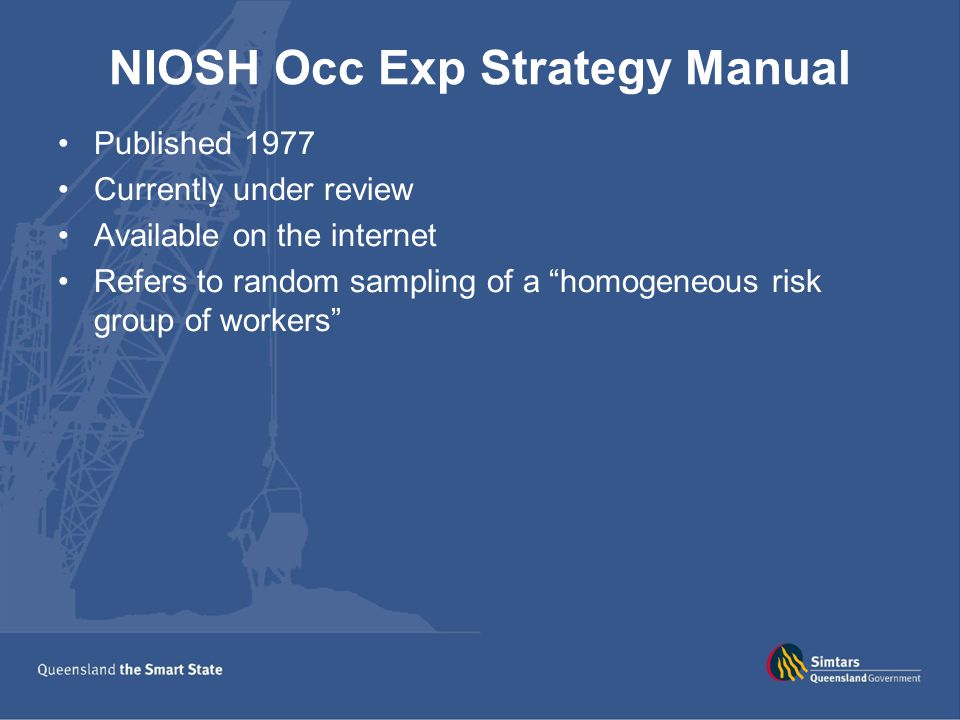 NIOSH Occ Exp Strategy Manual
