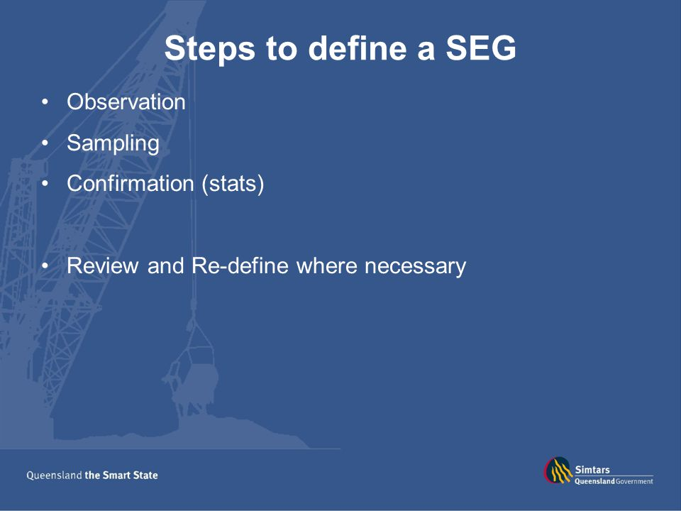 Steps to define a SEG Observation Sampling Confirmation (stats)