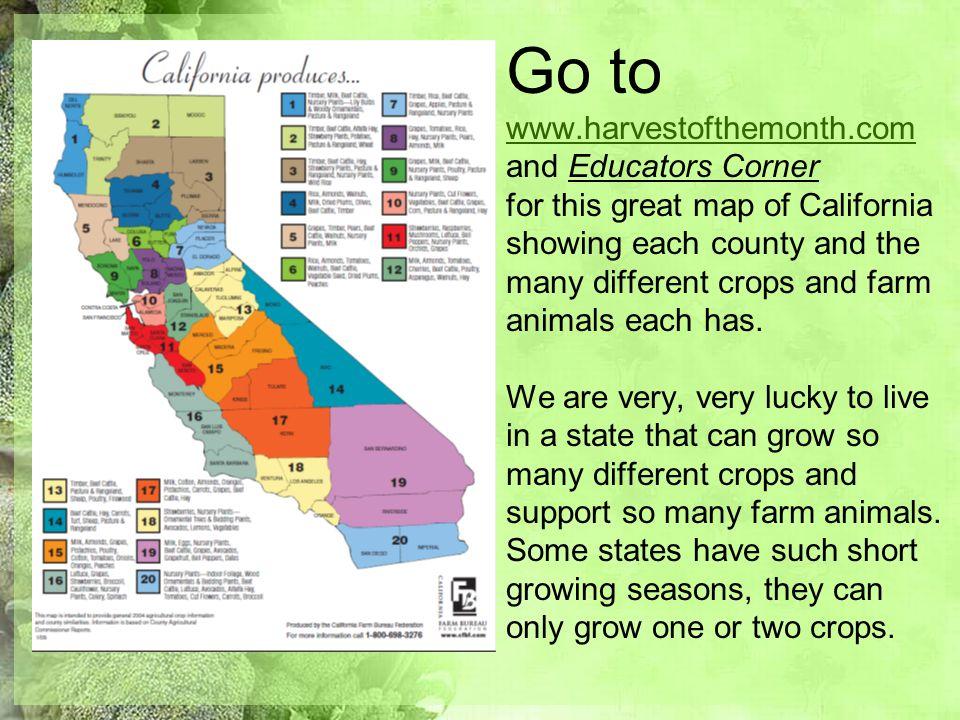 Go to www. harvestofthemonth
