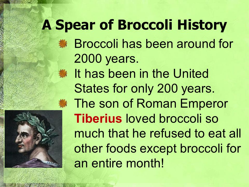 A Spear of Broccoli History