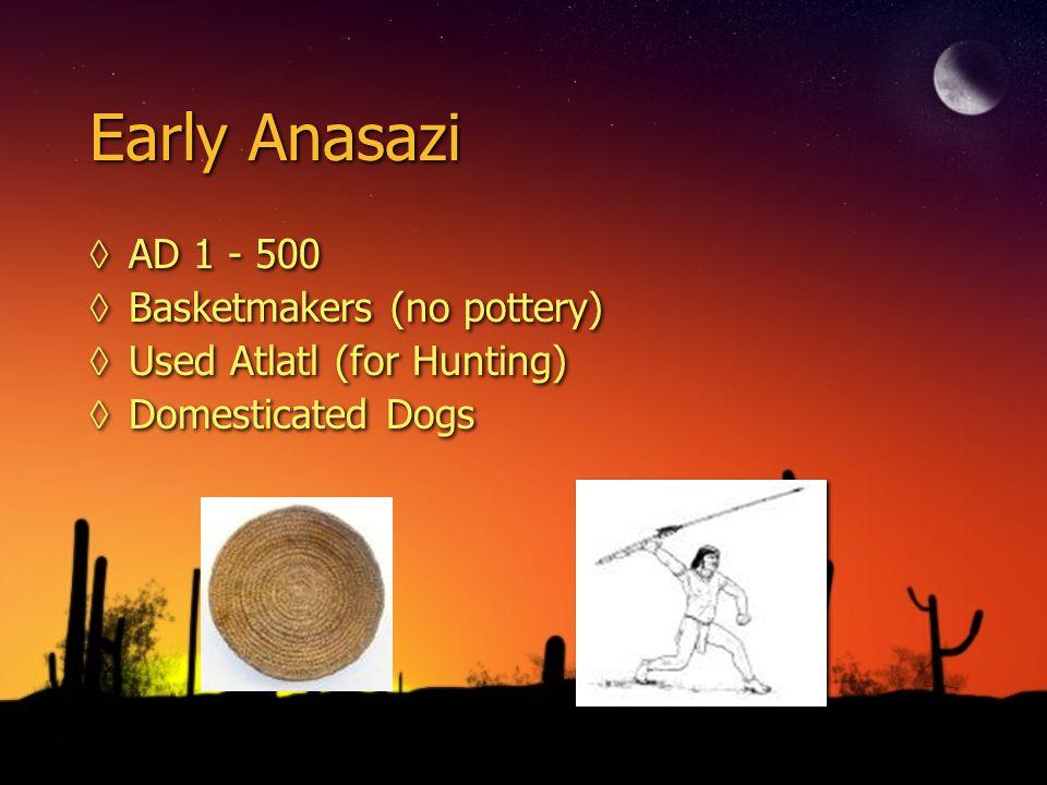 Early Anasazi AD 1 - 500 Basketmakers (no pottery)