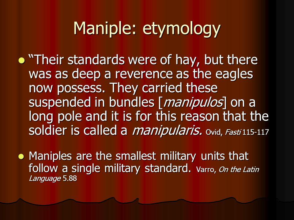 Maniple: etymology
