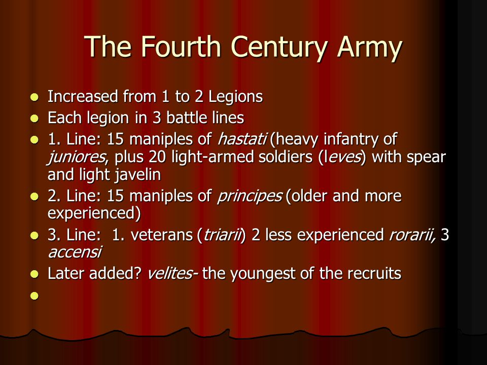 The Fourth Century Army